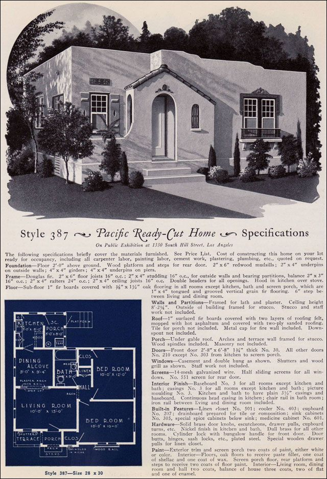 387 From Pacifics Book Of Homes Pacific Ready Built Possible Spanish Revival Roof Top Terrace