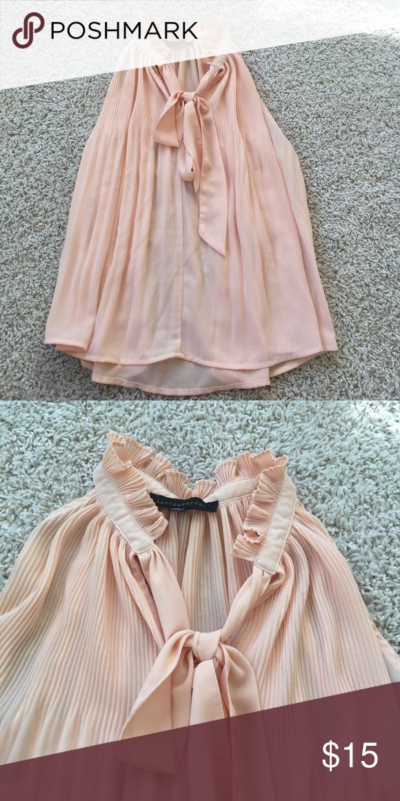 Lulu's peach top Peach top perfect for the office or a day out with family and friends! This top is slightly sheer so I suggest wearing a camisole underneath Lulu's Tops Blouses