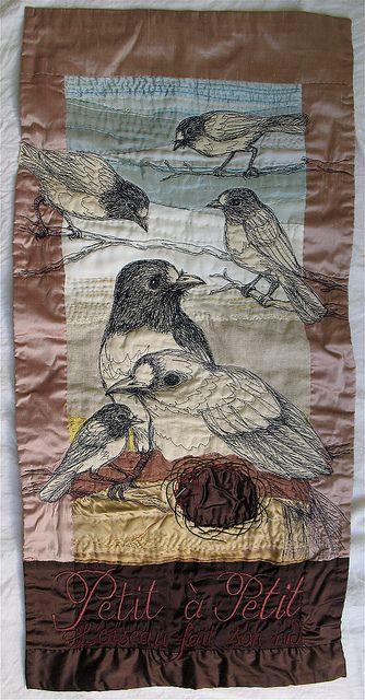 Simple divine: Tara Badcock's freehand machine embroidery.