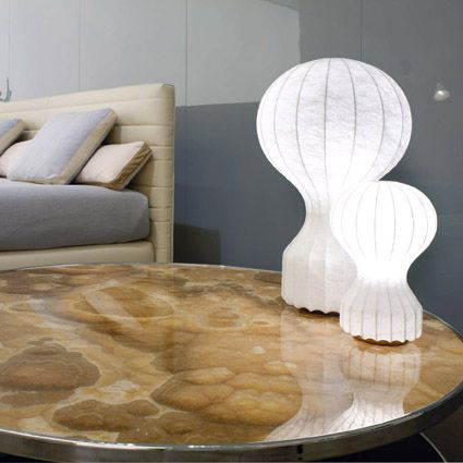 Gatto Table and Gatto Piccolo Table Lamp by Flos. Get it at LightForm.ca