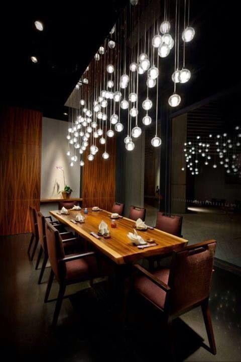 Light Fixture And Table Top 13 Stylish Restaurant Interior Design Ideas  Around The World