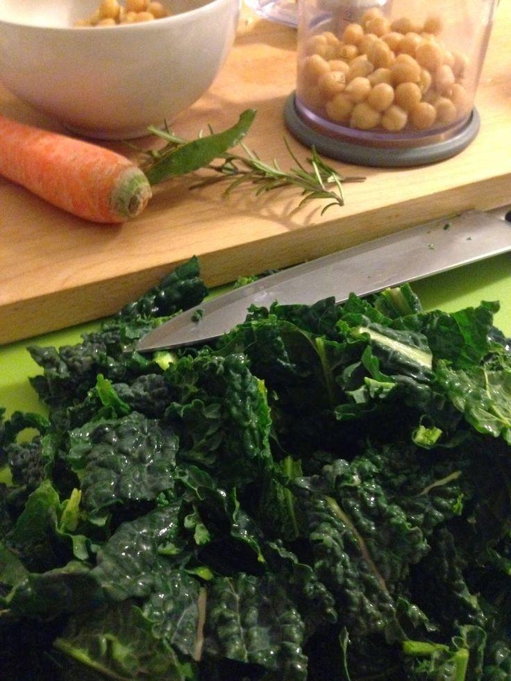 La Zucca Golosa: Zuppa di cavolo nero e ceci #cavolonero #ceci #vegan