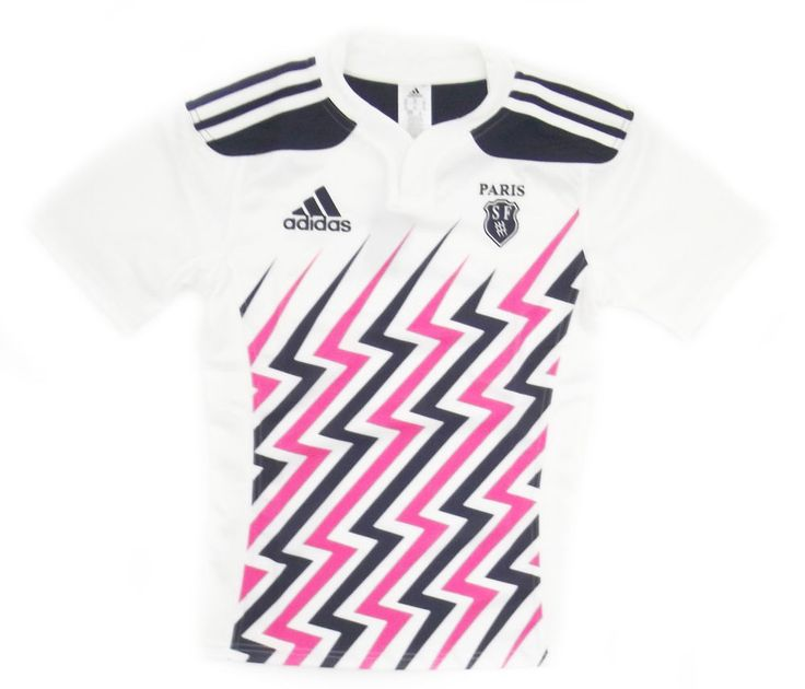 Stade Francais 2014/15 Home White/Navy/Pink Adults Replica Shirt
