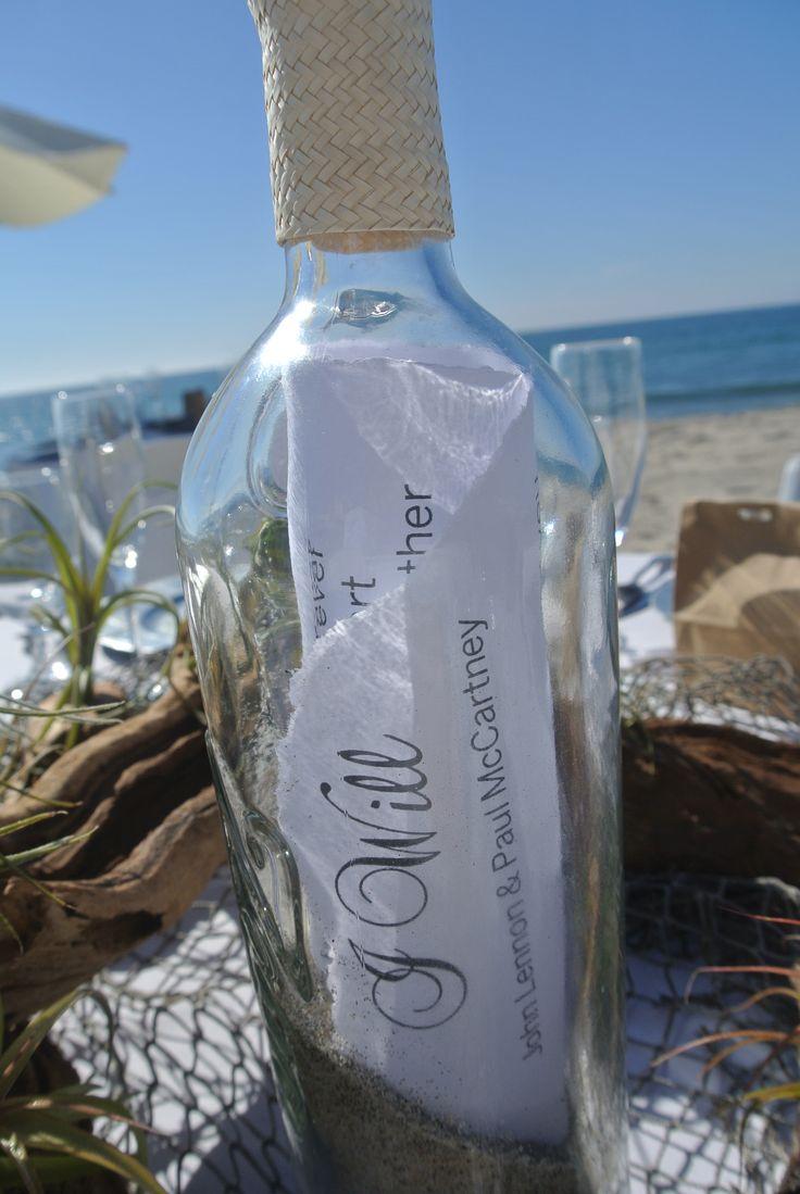 Cute idea for beach wedding decor!
