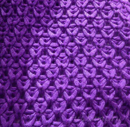 Красивый узор спицами для пуловера.