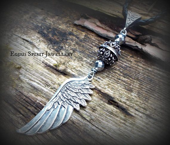 Angel wing bali style braided necklace by EquusSpiritJewellery