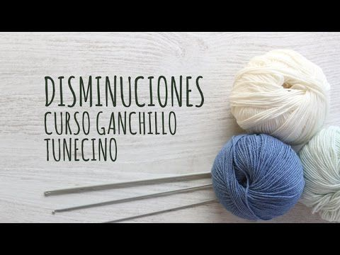 GANXET TUNISIÀ DISMINUCIONS Free Tunisian Crochet Lessons | Lanas y Ovillos
