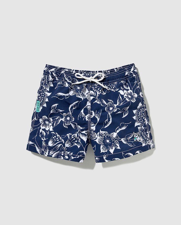 Bañador de niño Kiff Kiff azul marino estampado