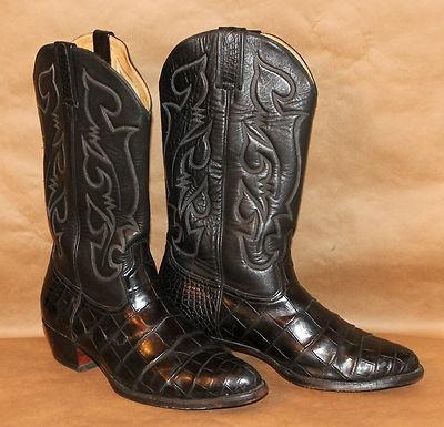Mens Custom Black Genuine Alligator Exotic Skin Cowboy Western Dress Boots 10 Ebay My Style