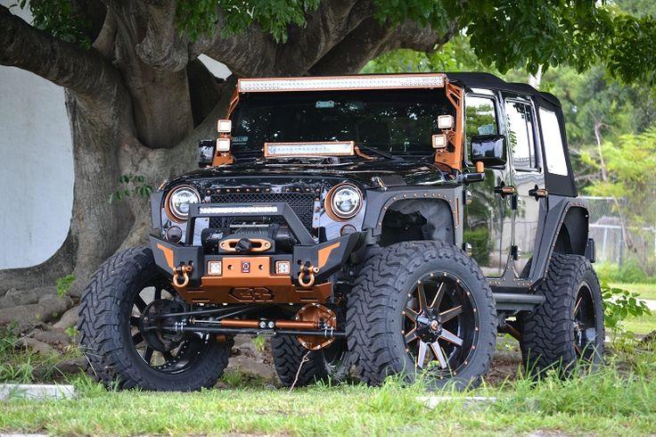 Jeep JK Parachoque Delantero Elite X con Barra Led