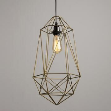 Gold Wire Geo Ryan Pendant nook