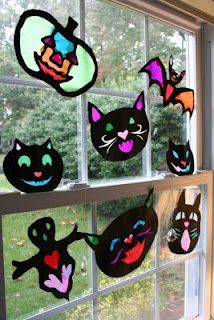 Halloween Stained Glass Templates