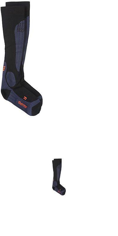 Socks 66095: Cep Men S Progressive+ Compression Thermo Ski Socks Black Deep Blue Size V -> BUY IT NOW ONLY: $44 on eBay!