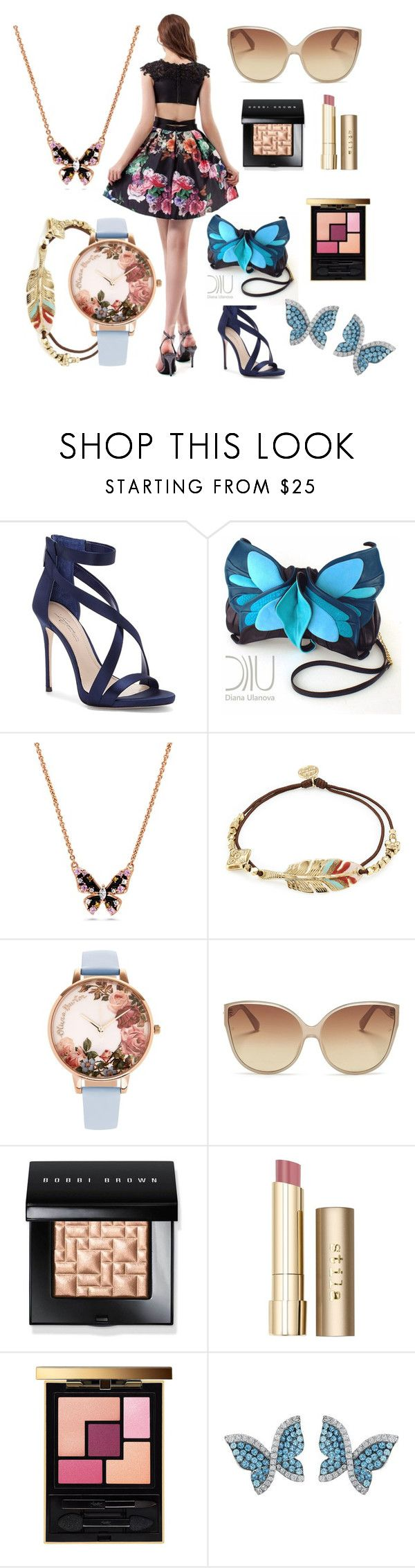 """""""CocoMelody Special Occasion Dresses No. 28"""" by cocomelodydress ❤ liked on Polyvore featuring Imagine by Vince Camuto, Gas Bijoux, Olivia Burton, Linda Farrow, Bobbi Brown Cosmetics, Stila, Yves Saint Laurent and Swarovski"""