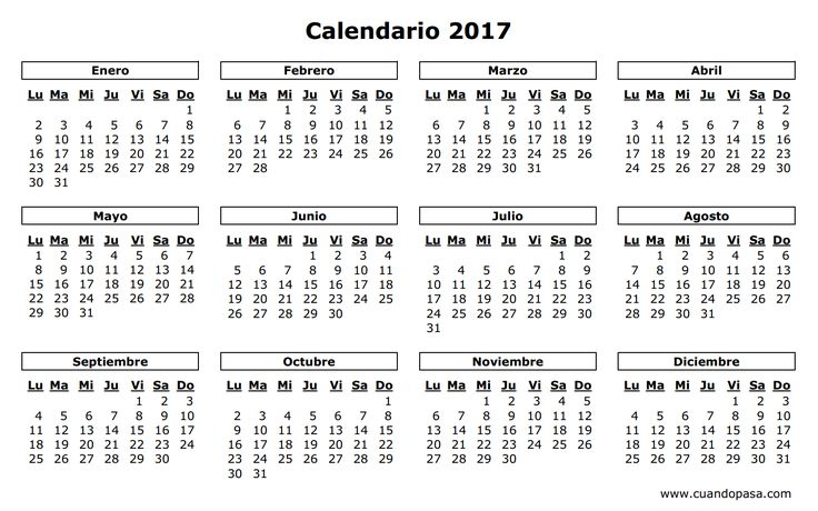 calendario 2017 - Buscar con Google