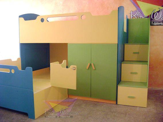 10 best images about muebles nene on pinterest kid - Escalera cajones para litera ...