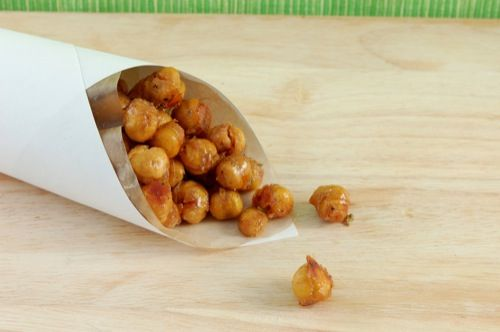 Honey roasted chick peas - fascinating!  I have a can of chick peas leftover from experimenting with making hummus (didn't go so well,) but I don't know if I would be justified to spend the money on agave nectar to be able to make these...