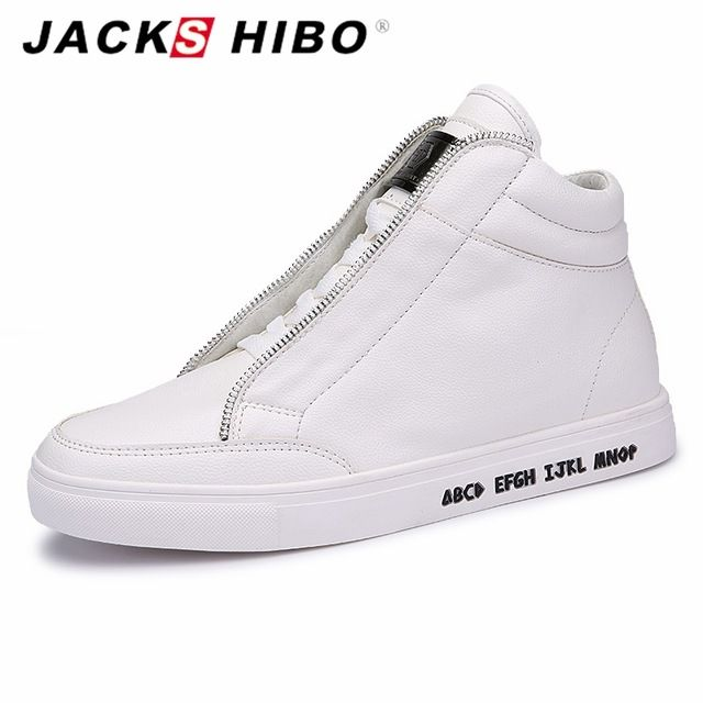 Good price JACKSHIBO Autumn Winter brand mens ankle boots Fashion metrosexual man hip hop boots White popular flats boots men bot just only $29.14 - 29.67 with free shipping worldwide  #menshoes Plese click on picture to see our special price for you