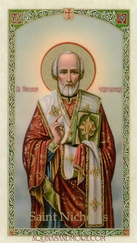Traditional Prayer to Saint Nicholas Prayer Card
