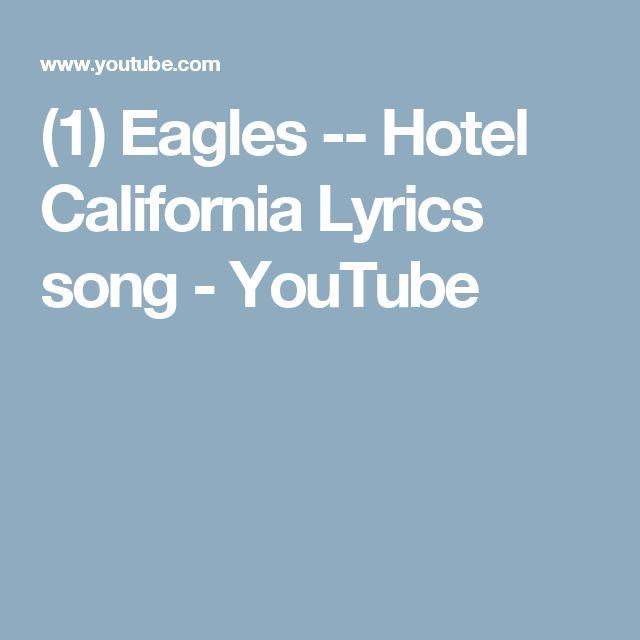 hotel california eagles lyrics pdf