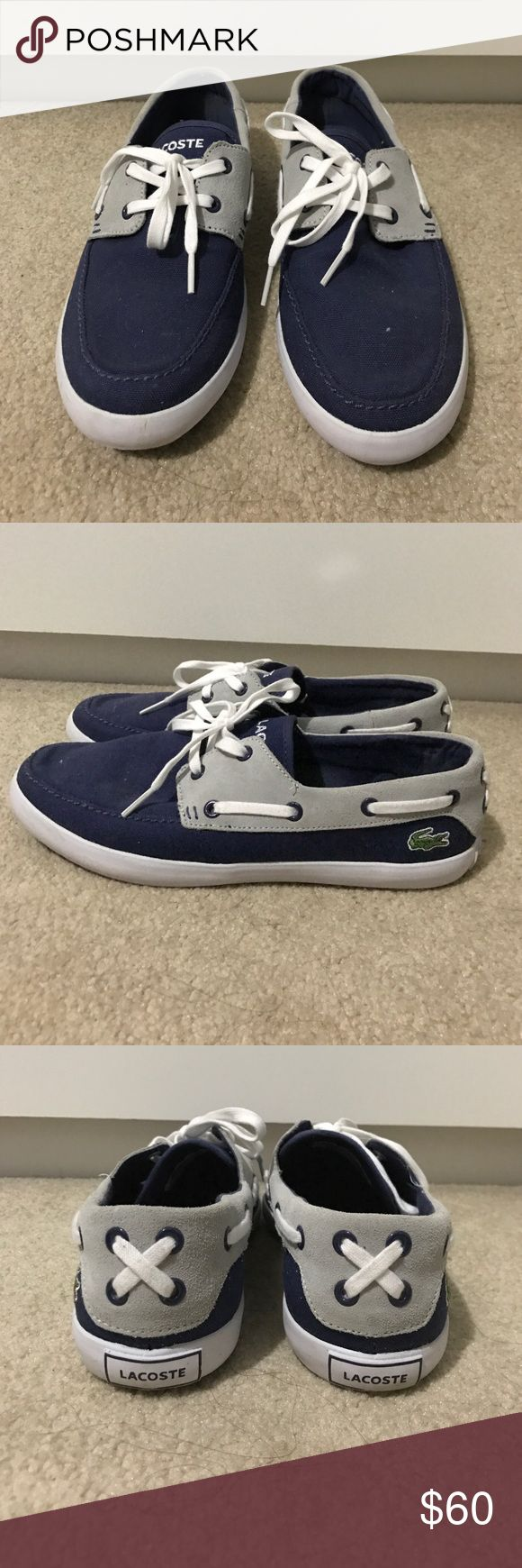 Lacoste Boat Shoes Women's Blue Lacoste boat shoes size 10. Worn once Lacoste Shoes Flats & Loafers