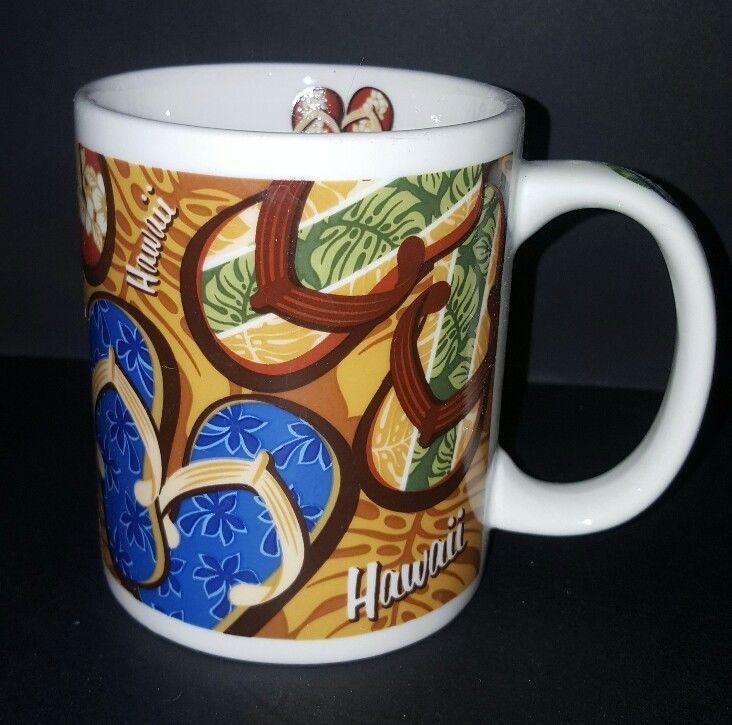 Hawaii Brown Slippers Coffee Mug Cup 12 Oz By Islander Group