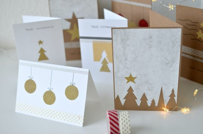 1001 Tutos Et Modeles De Carte De Noel A Fabriquer Avec