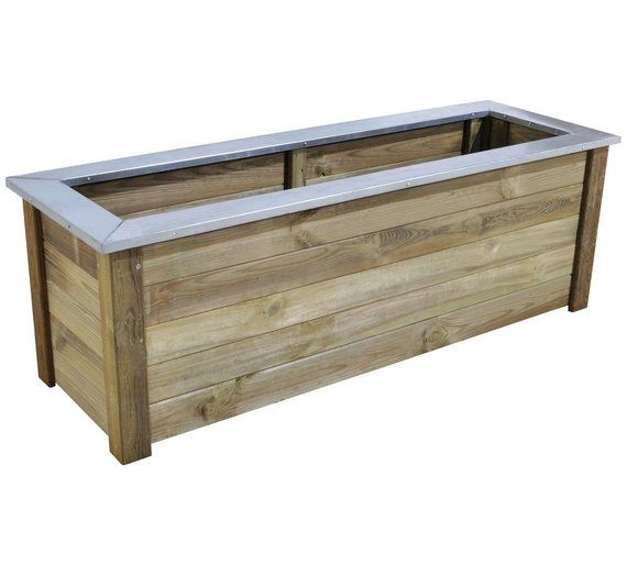 Buy Forest Wooden Metal Topped Cambridge Planter At Argos Co Uk Visit Argos Co Uk To Shop Online For Planters Garden P Forest Garden Planters Wooden Planters