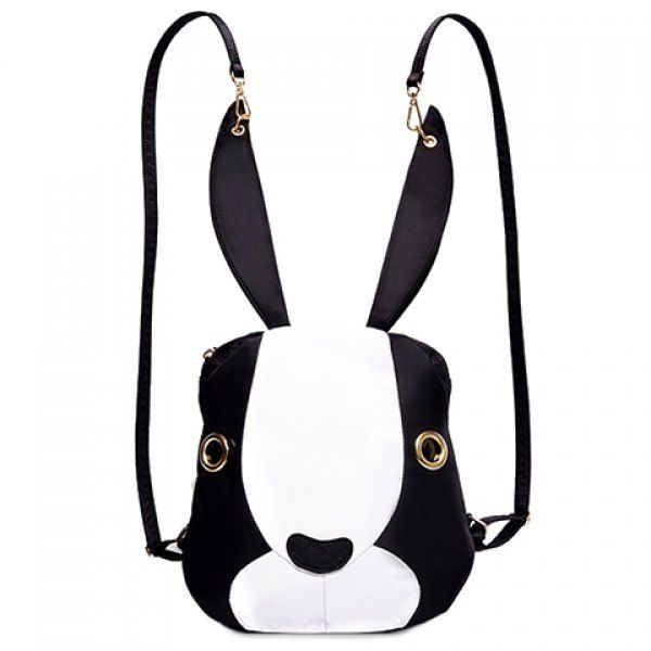 18 34 Cute Bunny Shape And Color Block Design Satchel For Women