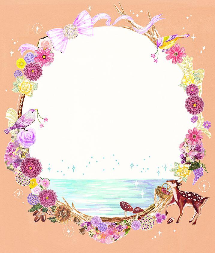 #animal #frame #枠 #動物 #広告 #花 #flower #デザイン #お洒落 #可愛い #線画 #コラージュ #collage #illustration #kanakobayashi #art #illust #LUMINE広告 #LUMINE
