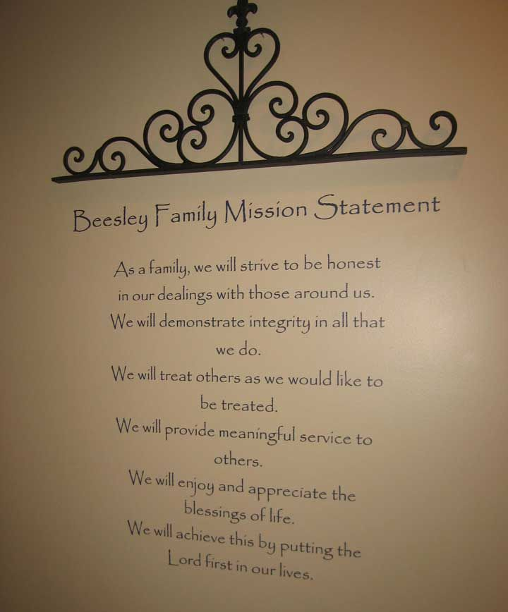 Customized Family Mission Statement by onegirldesignshoppe on Etsy - inspiration 10 statement template