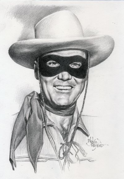 Clayton Moore as The Lone Ranger | Celebrity Drawings I in ...