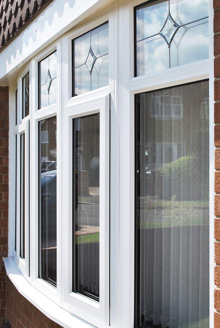 Fenesta upvc doors windows glass flooring - Beautiful Upvc Rehau Lincoln Door And Windows With Sparkle Glass Design In Side Panels And Top