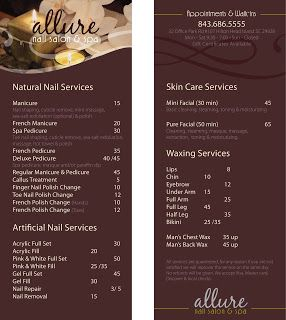 24 best images about spa service menus on pinterest for Floor 6 reloaded menu