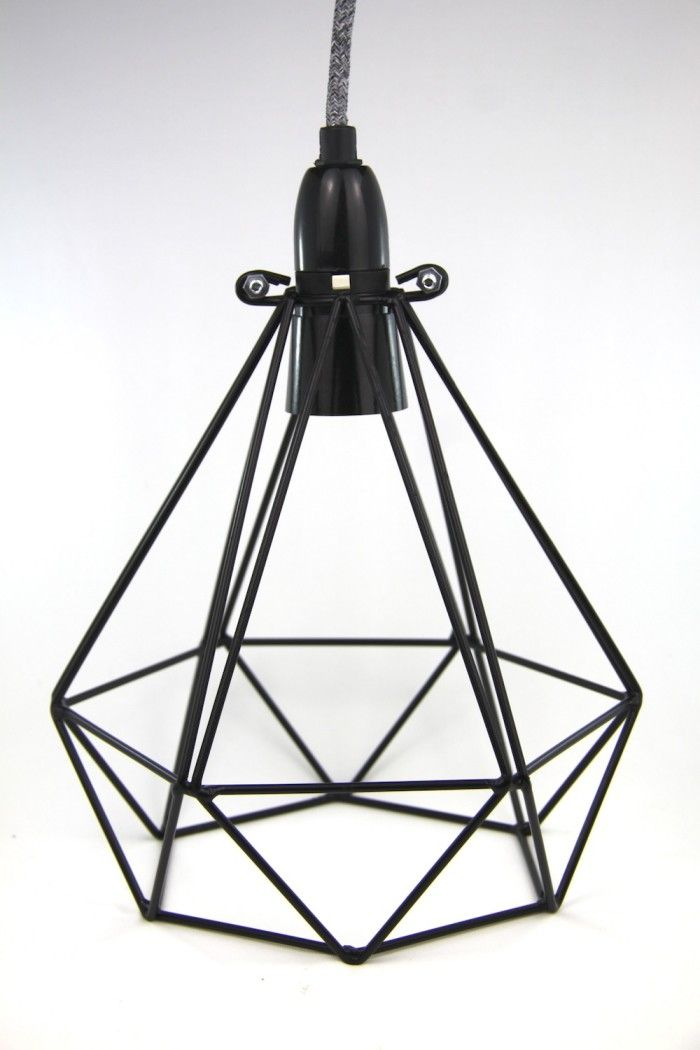 All pendants are designed and created by Empirical Style within Australia.This is a diamond metal cage light pendant with a 3m cord length and wall plug.Name: 'Diamond Crow'.Cord: Woven Grey, 3m.Cage: Diamond shape. Black. Height: 235mms Diameter: 210 mm.Lamp holder: Black, Bayonet fitting with on/off switch.Plug: Black, Three Pin.Additions: None. Light bulb not included.All pendants are designed and created by Empirical Style within Australia. Please note that they take up to 5 working days…