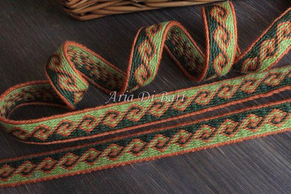 Tablet weaving trim kivrim pattern tablet weaving by AriaDiBari
