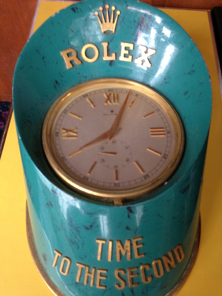 PART OF OUR COLLECTION- Rolex Desk Clock with stop feature. Time to the Second. Circa 1960's.