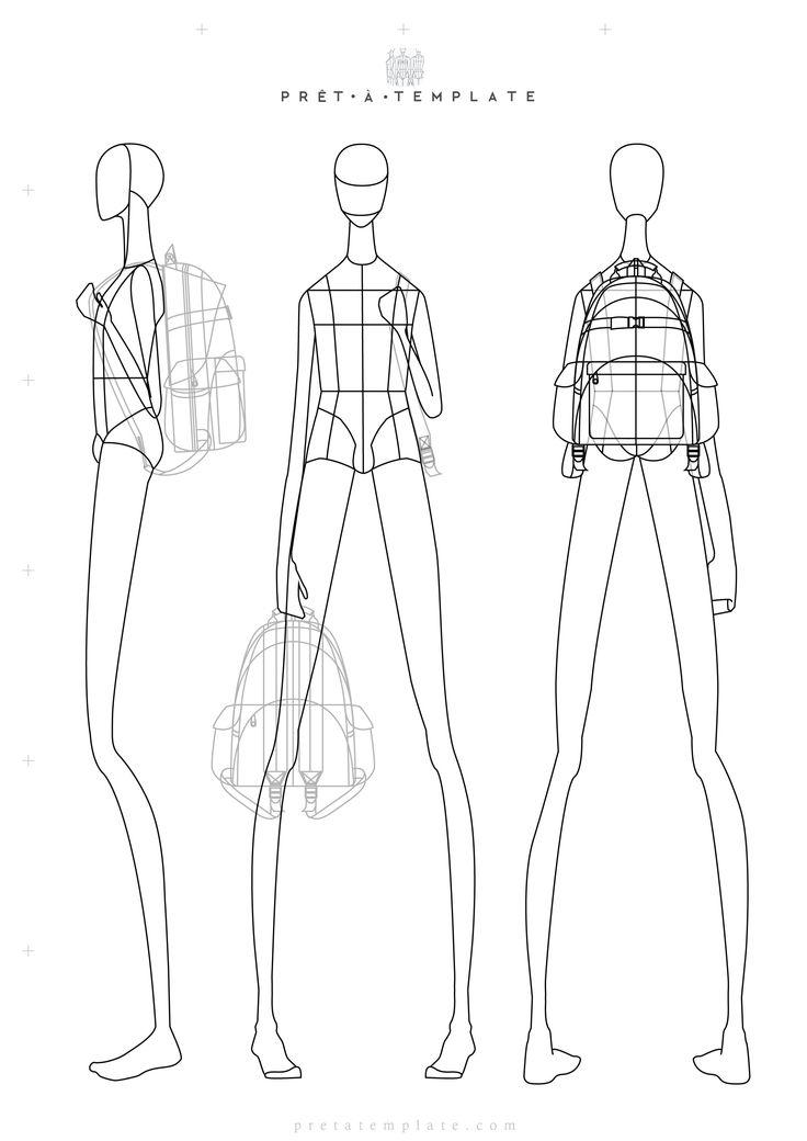 Man croqui body figure fashion template (D-I-Y your own Fashion Sketchbook) (Keywords: Fashion, Illustration, drawing, design, tool, App)