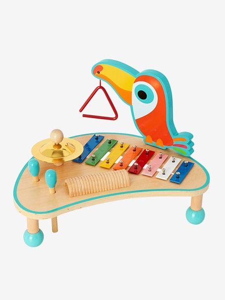 Table d'activités musicales en bois - Multicolore - 1