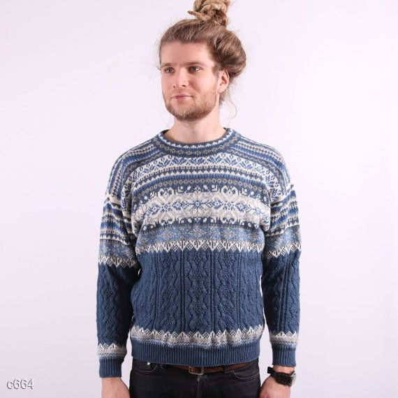 Mens Winter Sweater / Scandinavian style Sweater / sz Small