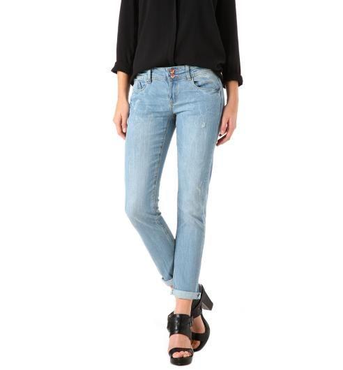 Sprane jeansy slim jasny jeans - Promod