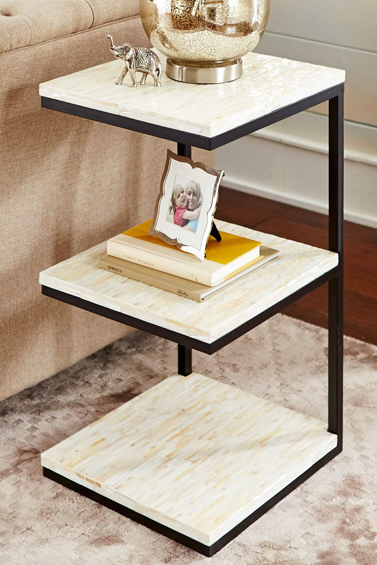 Best Mother Of Pearl 3 Tier Accent Table Furniture Small 400 x 300