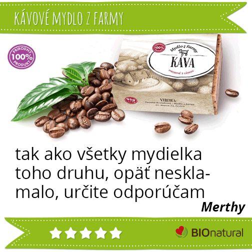 Hodnotenie kávového mydla od Mydlo z farmy http://www.bionatural.sk/p/kavove-mydlo-95g?utm_campaign=hodnotenie&utm_medium=pin&utm_source=pinterest&utm_content=&utm_term=kavove_mydlo