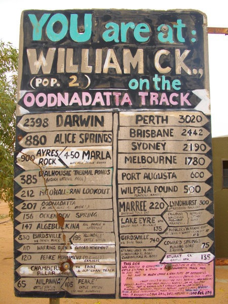 William Creek, SA.  Population 2. And a dog