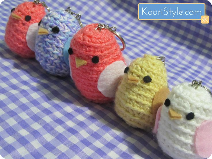 Amigurumi Bird Keychain Bird Lover Gift Little Gifts | Etsy | 552x736