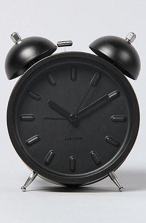 Present Time Clock Twin Bell Alarm Batteries Black : Karmaloop.com - Global Concrete Culture