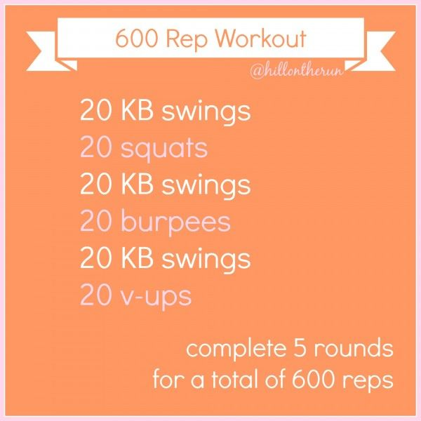 600 Rep Workout - Nutrition Nut on the Run