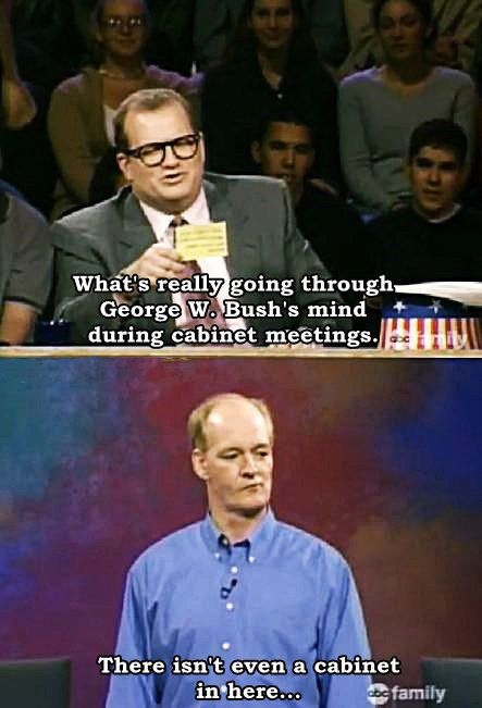 "When Colin was totally right about George W. Bush. | 20 Times ""Whose Line Is It Anyway?"" Was The Greatest Show On TV"