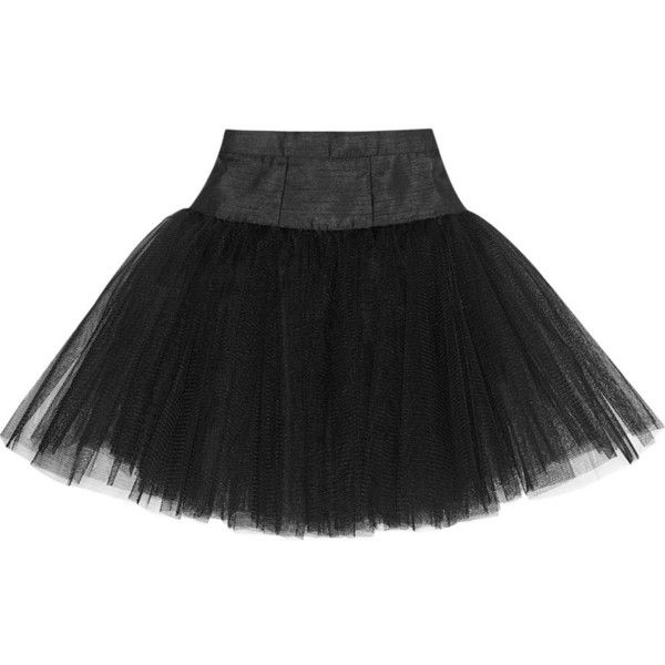 Ballet Beautiful Tulle skirt ($96) ❤ liked on Polyvore featuring skirts, black, mini skirt, ballet beautiful, tulle skirt and tulle mini skirt