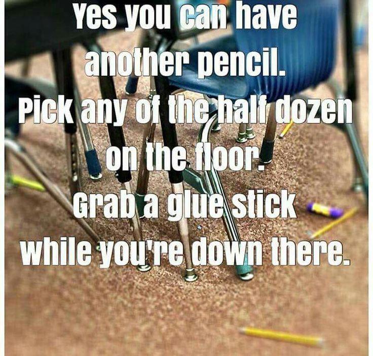 Seize a glue stick when you're down there lol!
